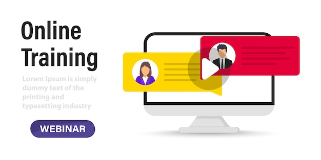 Live webinar. distance conference. live streaming. online technology distance communication. study education. online remote work. online training in laptop, video chat, podcast, course, lecture