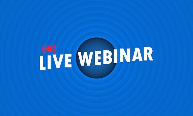 Live webinar illustration or social media webinar