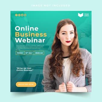 Live webinar social media post template