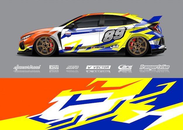 Livery design for race car