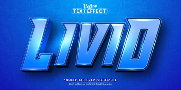 Livid text, cartoon style editable text effect