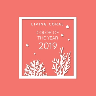 Living coral background