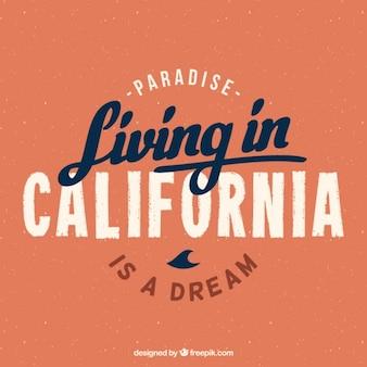 캘리포니아 배경에서 생활