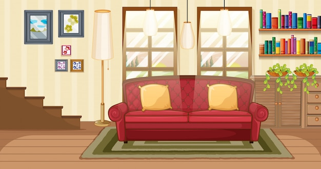Living room background scene