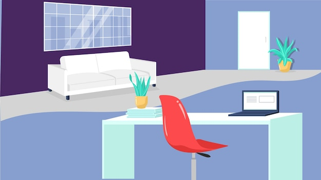 Living room background vector illustration