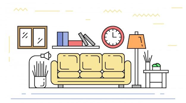 Living room flat line