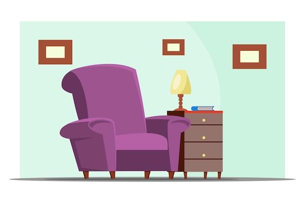 Living room furnishing illustration