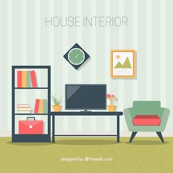 Living room furniture in flat design