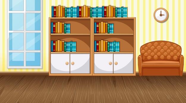 Living room interior design with furniture