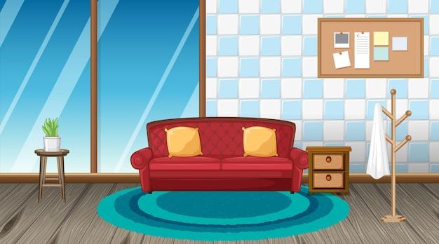 가구와 거실 인테리어 디자인