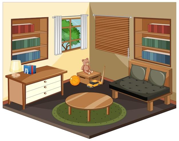 Интерьер гостиной с мебелью