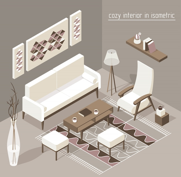 Living room isometric