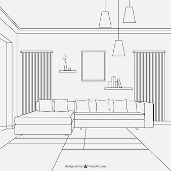 Interior vectors photos and psd files free download for Room design vector