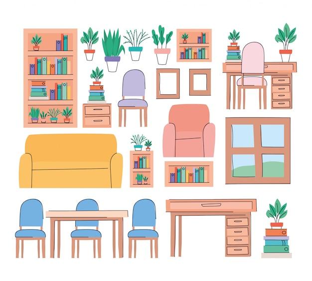Набор предметов для гостиной