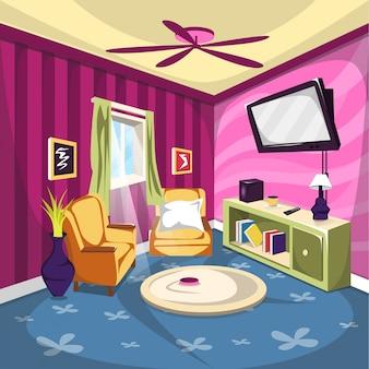 リビングルームまたはテレビルーム家具(ソファ付)