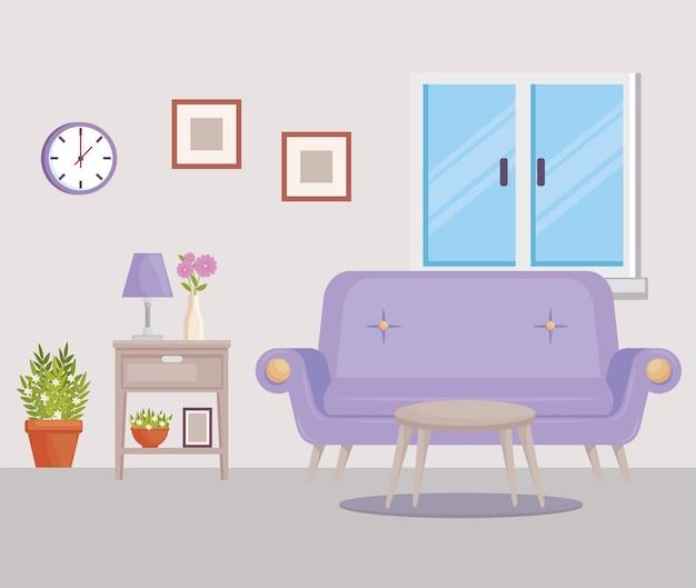 Livingroom home decor scene