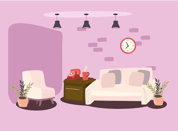 居間の故郷のシーン