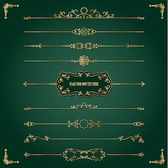 Lixury golden frame and dividers set