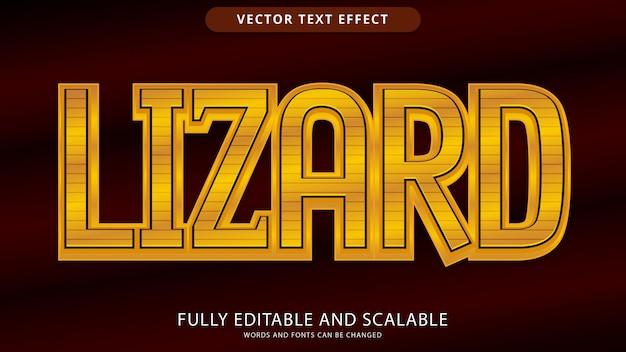 Lizard text effect editable eps file