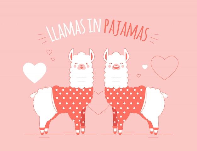 Llamas illustration