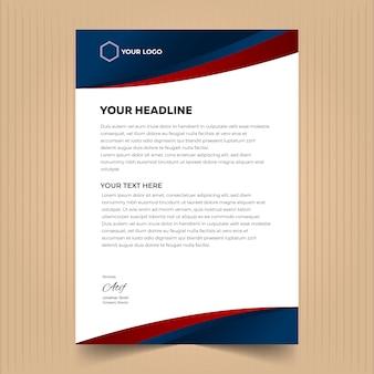 추상 요소와 레터 헤드 디자인 서식 파일