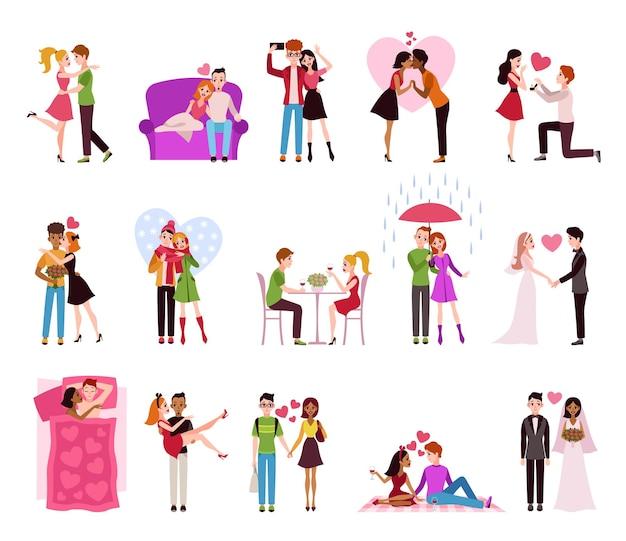 행복한 로맨틱 커플의 llifestyle