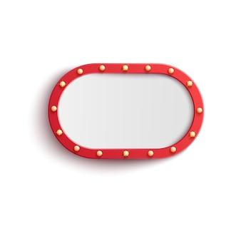 Лампочка красная винтажная рамка