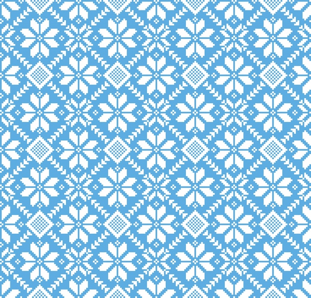 Llustration of ukrainian folk seamless pattern ornament