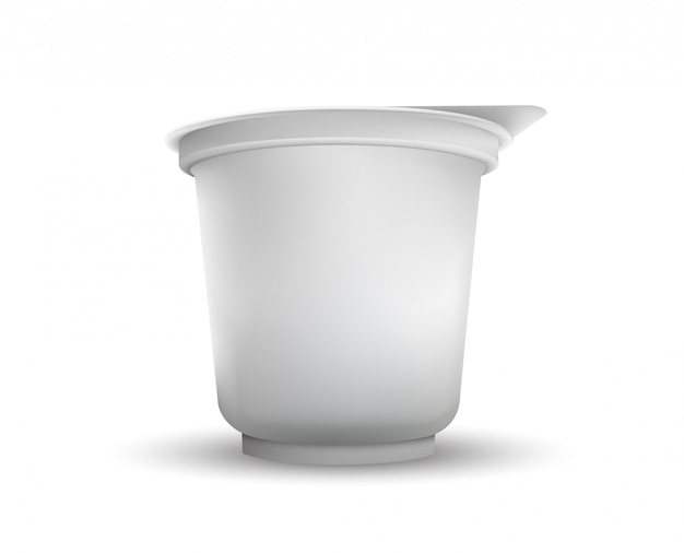 Изолированное llustration упаковки еды белой фольги.