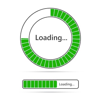 Loading bar icons.  illustration