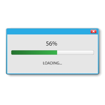 Loading bar for ui and ux design. vector illustration