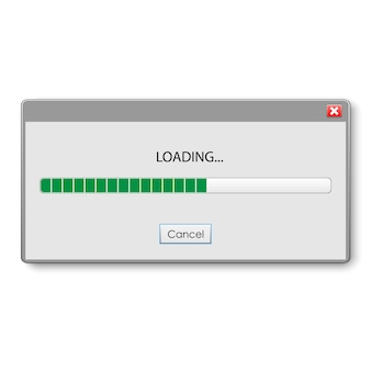 Loading bar for ui and ux design.