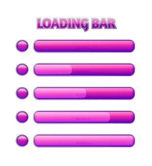 Loading bar on a white background