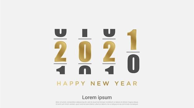Loading happy new 2021 year background