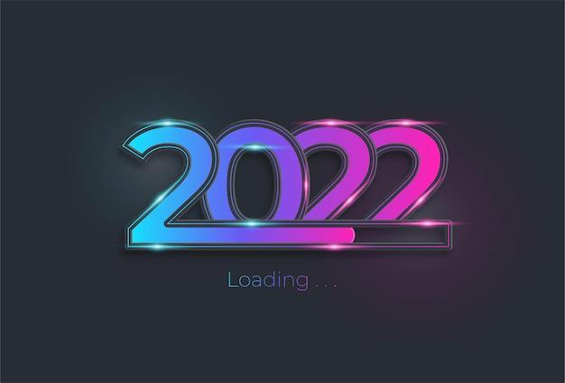 幸せな新しい2022年の背景を読み込んでいます
