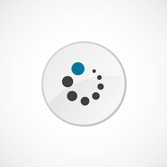 Loading icon 2 colored, gray and blue, circle badge