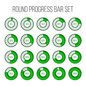 Loading round progress circle bar