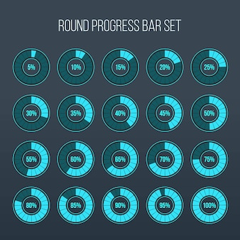 Loading round progress circle bar.