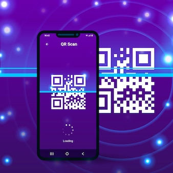 Loading screen on mobile phone scanning qr code