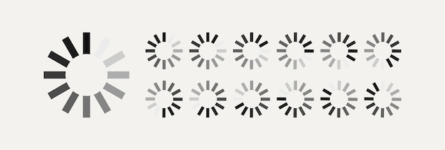 Loading vector symbol for motion design animation isolated on white background load symbol download