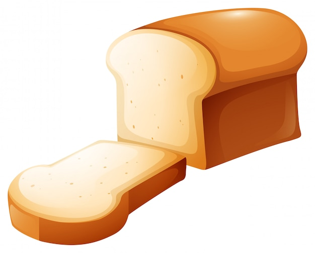 Loaf of bread and single slice