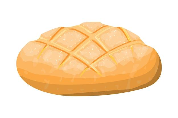 小麦のトーストパン。穀物ロールパン。焼き菓子。バゲット。パン屋。フラットスタイルのベクトル図
