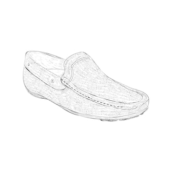 Loafers shoe illustration in hand drawn vector