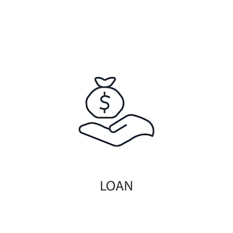 Loan concept line icon simple element illustration loan concept outline