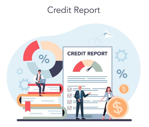 Иллюстрация концепции кредитного менеджера в плоском стиле
