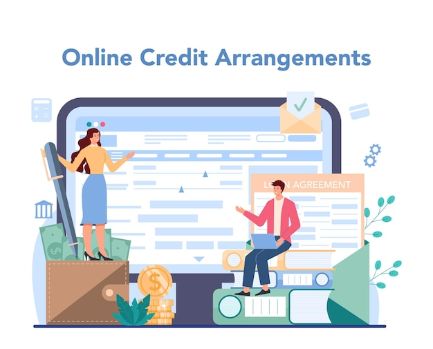 Loan manager online service or platform