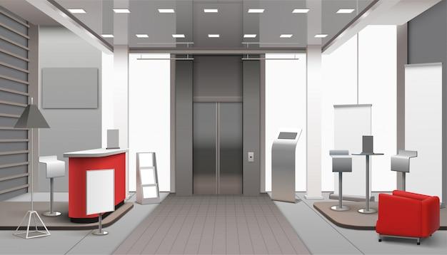 Lobby interior realistic