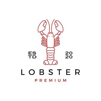 Лобстер крау рыба морепродукты логотип значок иллюстрации