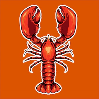 Lobster icon for mascot
