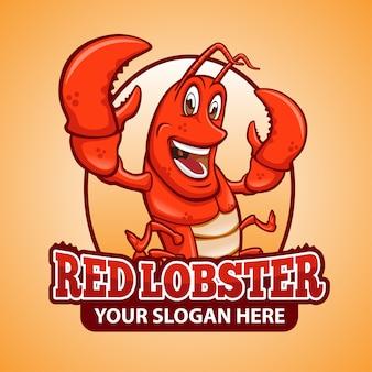 Lobster mascot logo oval design
